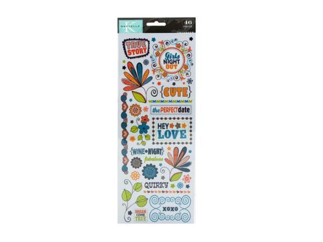 Bulk Buys Plastic Rub-on Scrapbook Transfers Craft Pack of 24