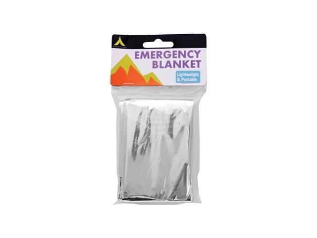 Bulk Buys Bedding Accessories Emergency Plastic Blanket Pack Of 24 Silver