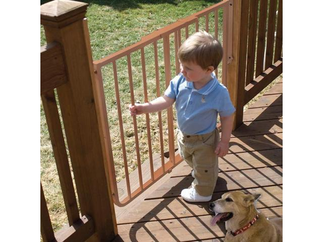 Petstores Stairway Special Outdoor Gate Brown 27 Inch  42.5  Inch x 29.5 Inch