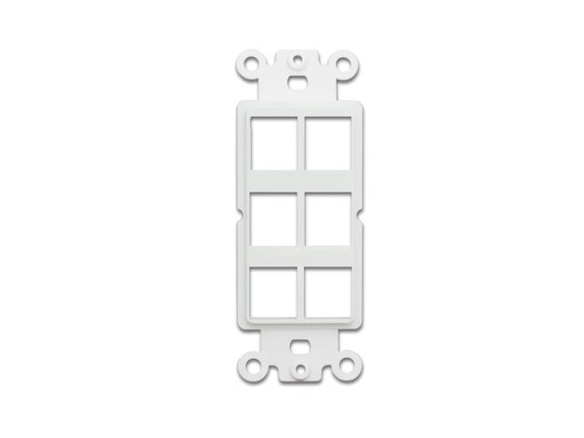 Home And Decorations White Decora Wall Plate Insert