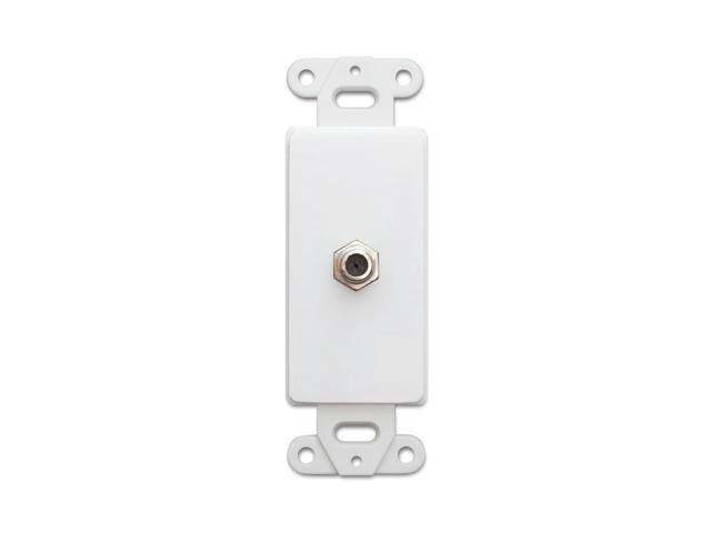 Cable Wholesale Wall Hangings White Decora Wall Plate Insert,F-Pin Female