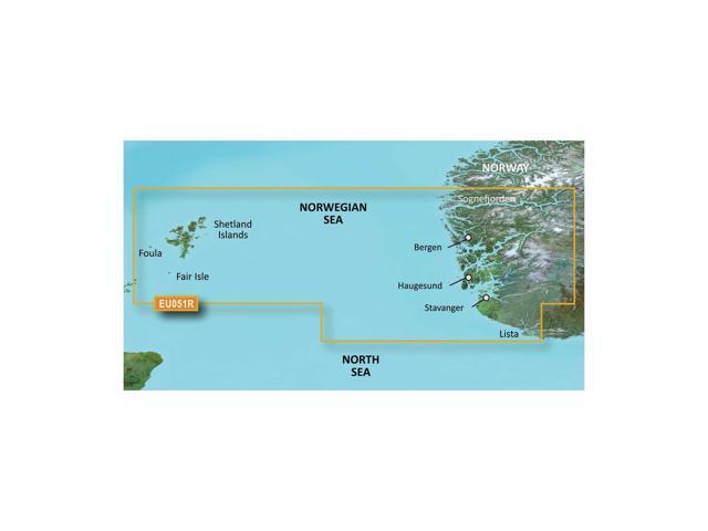 CWR Garmin Bluechart G2 - HXEU051R - Lista - Sognefjorden - microSD/SD