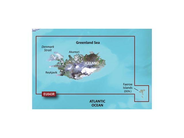 CWR Garmin Bluechart G2 - HXEU043R - Iceland  Faeroe Islands - microSD/SD