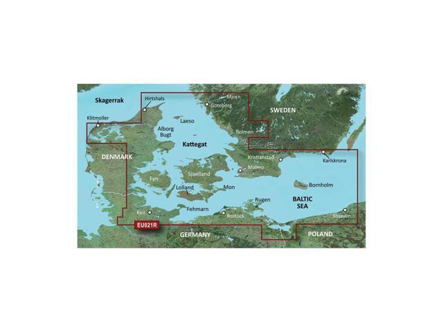 CWR Garmin Bluechart G2 - HXEU021R - Denmark East  Sweden Southeast - microSD/SD