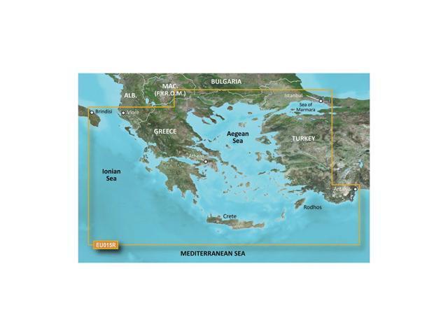 CWR Garmin Bluechart G2 - HXEU015R Aegean Sea  Sea of Marmara - microSD/SD