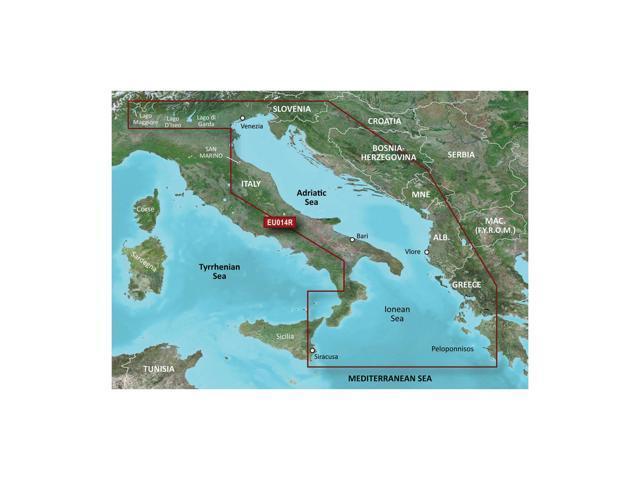 CWR Garmin Bluechart G2 - HXEU014R - Italy Adriatic Sea - microSD/SD