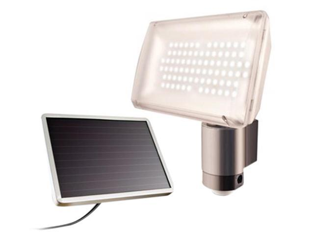 Solar-Powered 80 led Security Floodlight-Black
