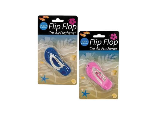 Bulk buys Flip Flop Beach Feet Car Auto Vehicle Hanging  Air Freshener Gift Pack Of 18