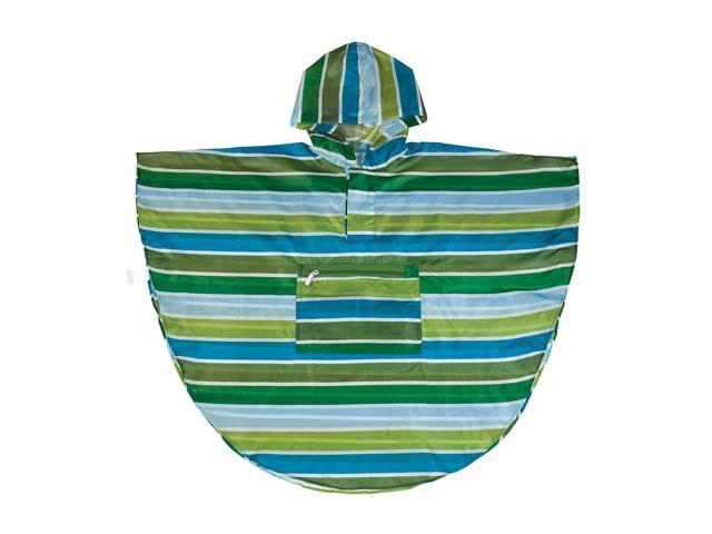 Wildkin Kids Home Outdoor Camping Cool Stripes Poncho (4-7) Blue