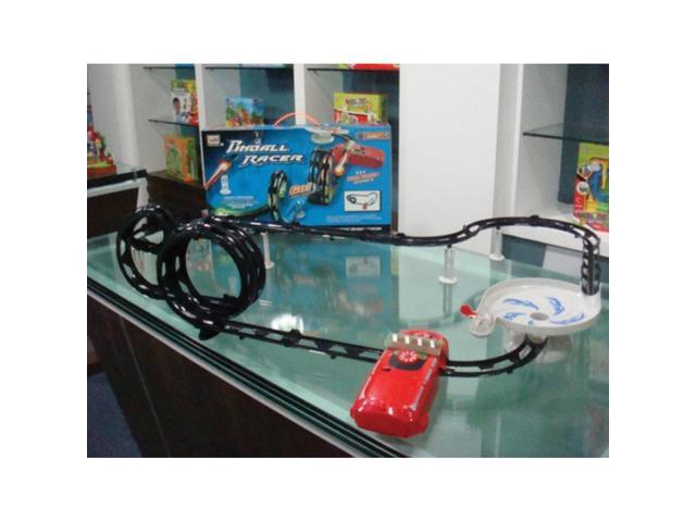 Azimporter Kids Childrens Educational Toys Global Track Flashing Light Pinball Racer Fun Play