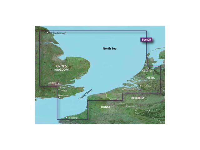 Garmin BlurChart VEU002R - Dover to Amsterdam And England Southeast - SD Card