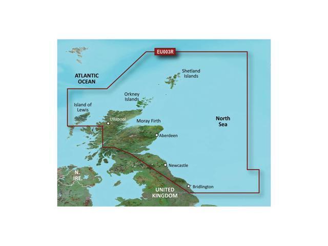 Garmin BlurChart VEU003R - Great Britain, Northeast Coast - SD Card