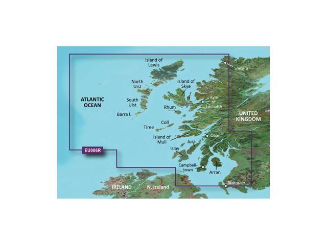 Garmin BlurChart VEU006R - Scotland, West Coast - SD Card