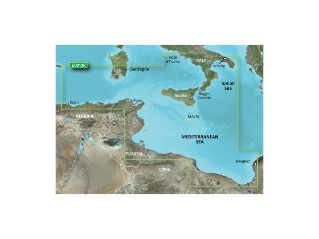 Garmin BlurChart VEU013R - Italy Southwest & Tunisia - SD Card