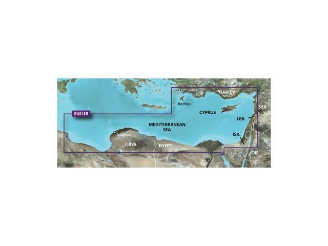 Garmin BlurChart VEU016R - Mediterranean Southeast - SD Card