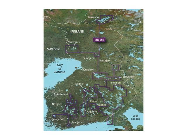 Garmin BlurChart VEU055R - Finnish Lakes - SD Card