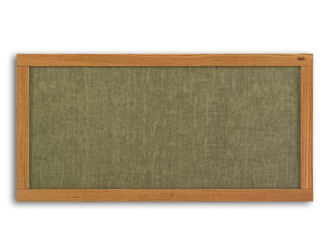 Marsh 48x48 Natural Cork Bulletin, Oak Wood Trim