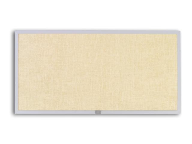 Marsh 48x48 Natural Cork Bulletin, Thin Line Aluminum trim