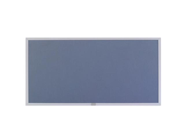 Marsh Display Board 48x120 Plas-Cork 2204 Bulletin, Thin Line Aluminum trim