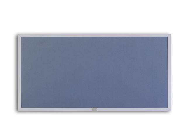 Marsh Display Board 48x120 Plas-Cork 2185 Bulletin, Thin Line Aluminum trim