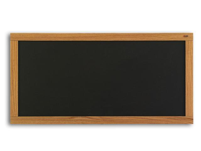 Marsh Message Display Board 48x96 Plas-Cork 2205 Bulletin, Oak Wood Trim