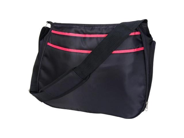 Trend Lab 104600 Ultimate Hobo Shoulder Diaper Bag - Black/Fuchsia Pink