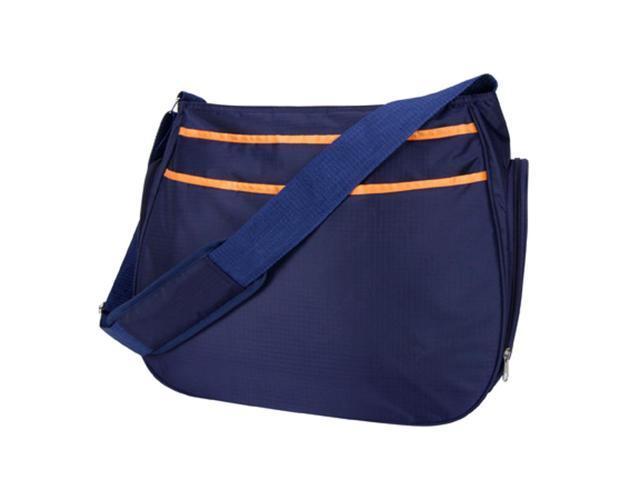Trend Lab 104602 Ultimate Hobo Shoulder Diaper Bag - Navy Blue/Orange Ultimate Hobo