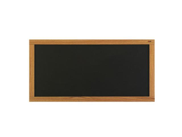 Marsh Message Display Board 48x120 Plas-Cork 2202 Bulletin, Oak Wood Trim