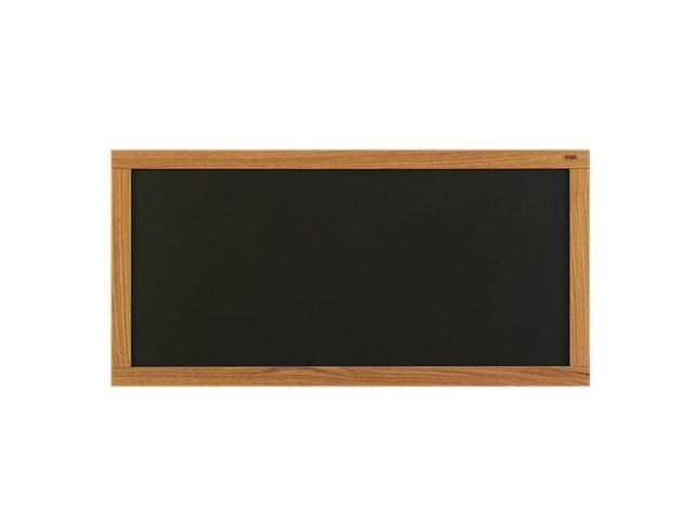 Marsh Message Display Board 48x120 Plas-Cork 2185 Bulletin, Oak Wood Trim