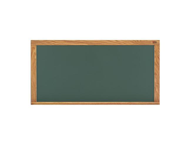Marsh Office Message Holder 48x96 Green HPL Chalkboard With Oak Trim