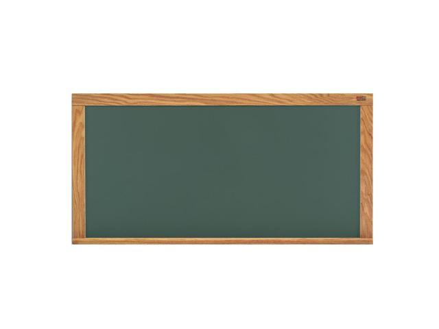 Marsh Office Message Holder 48x120 Green HPL Chalkboard With Oak Trim