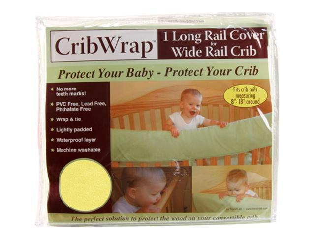 Trend Lab Baby Teeth Cribwrap Wide Rail Cover Long Black And White Zebra Percale