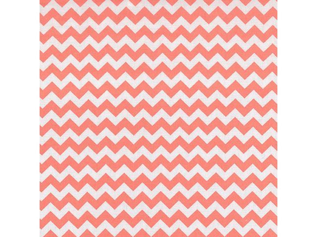 Trend Lab  Nursery Kids Baby Product Coral Pink And White Chevron Crib Sheet