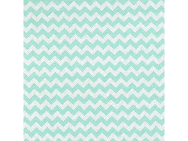 Trend Lab  Nursery Kids Baby Product Mint Green And White Chevron Crib Sheet