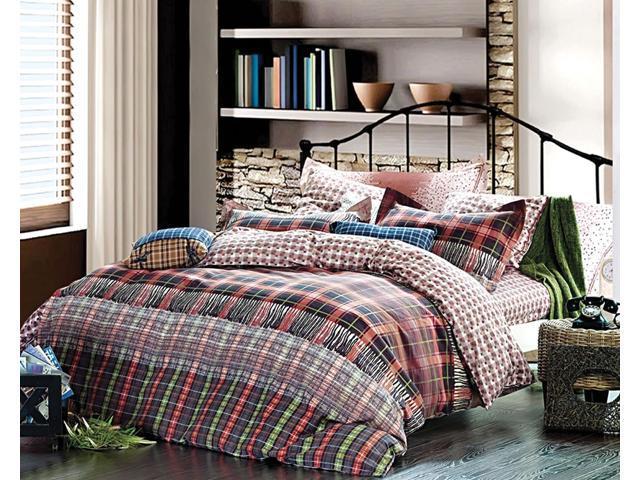 Dolce Mela Home Queen Bedding Modern Abstract Design Duvet Cover Set DM480Q