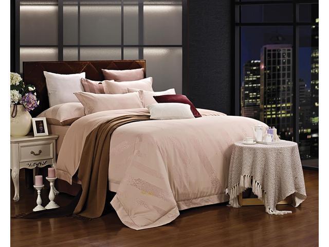 Dolce Mela DM470K Jacquard Damask Luxury Bedding King Duvet Cover Set