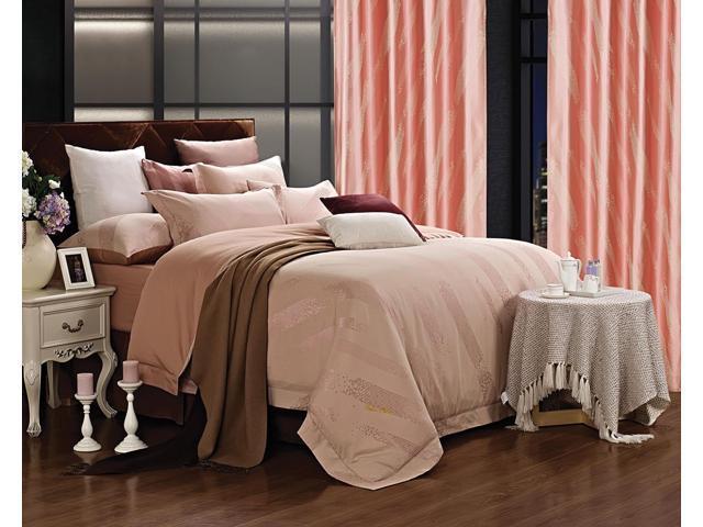 Dolce Mela Home DM470Q Jacquard Damask Luxury Bedding Queen Duvet Cover Set