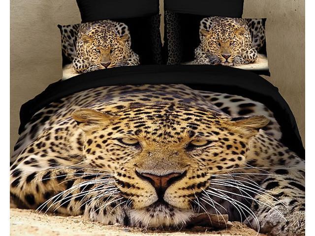 Safari Themed Luxury King Bedding Duvet Cover Set Dolce Mela DM400K