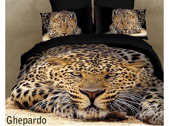 Safari Themed Luxury Queen Bedding Duvet Cover Set Dolce Mela DM400Q