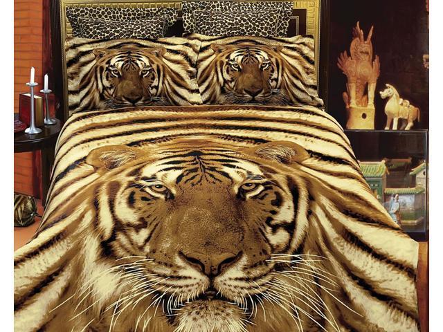 Safari Themed Luxury Queen Bedding Duvet Cover Set Dolce Mela DM412Q