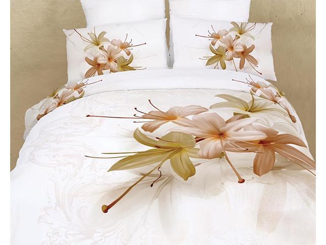 Dolce Mela Home King Duvet Cover Set Luxury Modern Floral Bedding DM417K