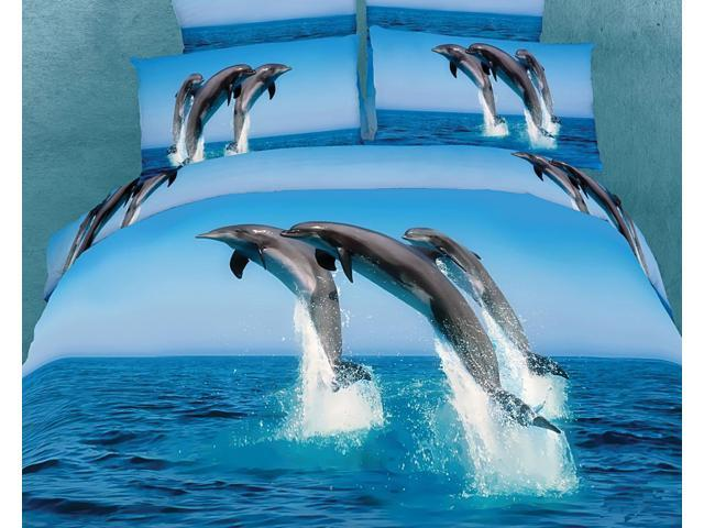 Dolce Mela Home Indoor Marine Queen Bed Luxury Bedding Duvet Cover Set DM425Q