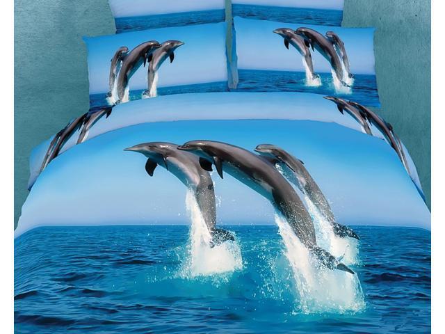 Dolce Mela Home Indoor Marine Queen Bed Luxury Bedding Duvet Cover Set DM425Q