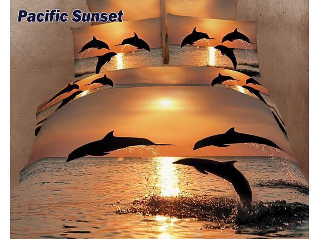 Dolce Mela Home Indoor Marine King Bed Luxury Bedding Duvet Cover Set DM426K