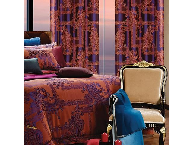 Dolce Mela Home DMC462 Window Treatment Damask Drapes Calypso Curtain Panel
