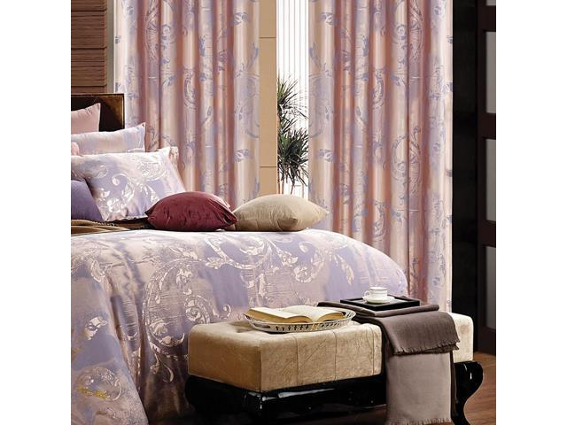 Dolce Mela Home DMC465 Window Treatment Damask Drapes Pandora Curtain Panel