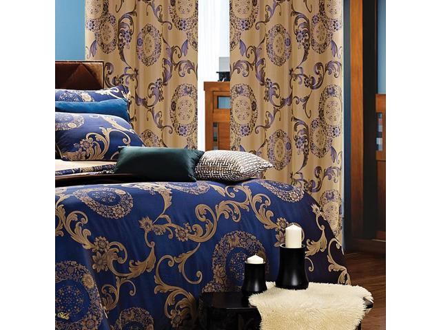 Dolce Mela Home DMC469 Window Treatments Damask Drapes Venus Curtain Panels