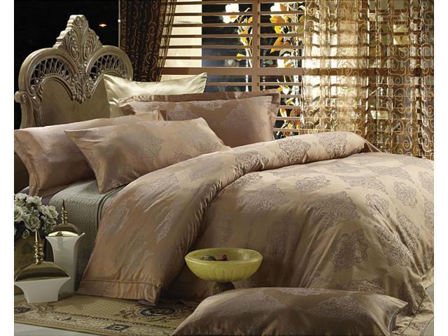 Jacquard Luxury Linens Queen Bedding Duvet Cover Set Dolce Mela DM444Q