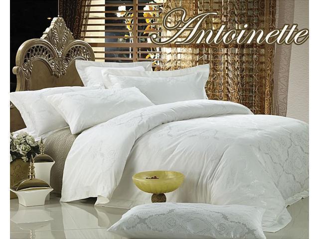 Jacquard Luxury Linens Queen Bedding Duvet Cover Set Dolce Mela DM446Q
