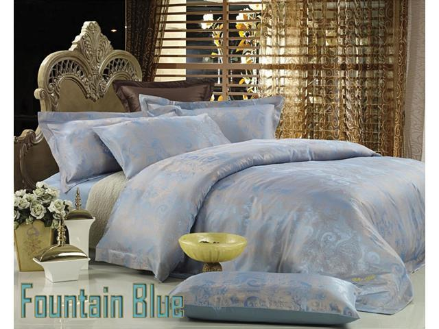 Jacquard Luxury Linens Queen Bedding Duvet Cover Set Dolce Mela DM448Q